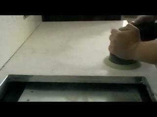 Полировка столешницы из искусственного камня