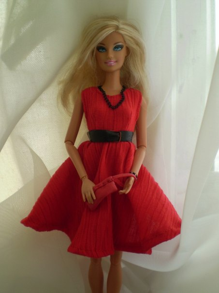 Халаты для кукол барби своими руками