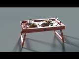 Столик для завтрака в постель. Мммммм))))