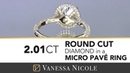 Micro Pave 2 Carat Round Diamond Ring for Valerie MAJOR Bling