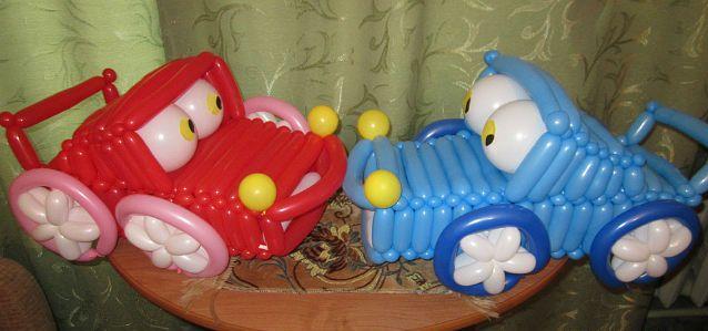 Как сделать машину из воздушных шаров своими руками