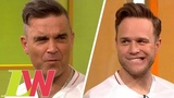 Robbie Williams Forced to Sing Olly Murs Hit as Forfeit for Losing Penalty Shootout Loose Women
