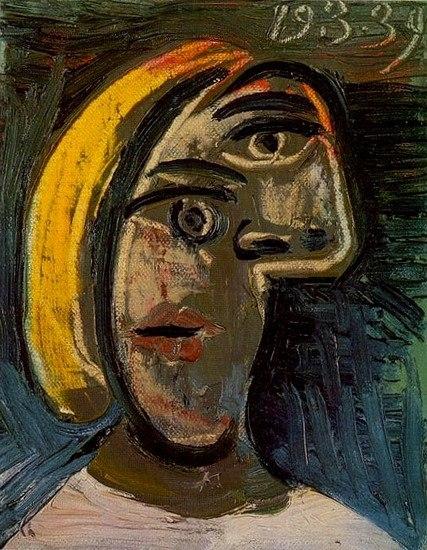 Пабло Пікассо, Голова жінки зі світлим волоссям, 1939, полотно, олія