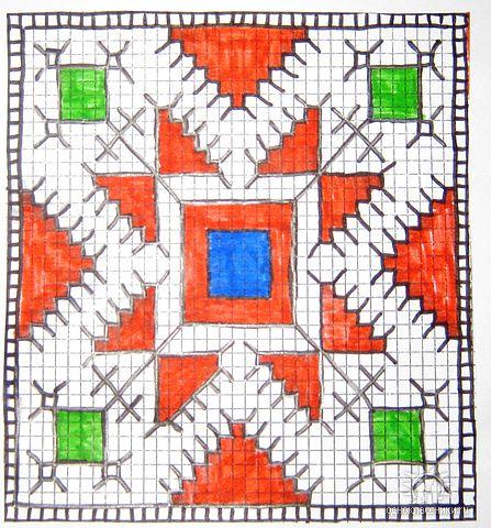 Схемы чувашской вышивки.