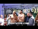 TYSON FURY VS. FRANCESCO PIANETA FULL WEIGH-IN AND FINAL FACE OFF