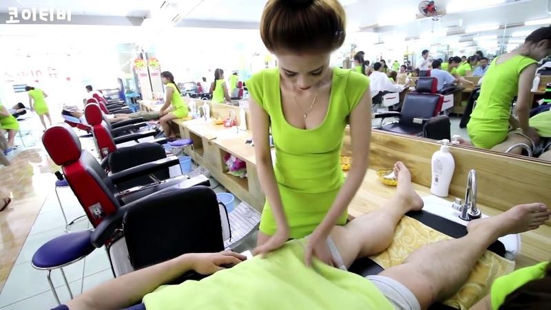 Massage ASMR Vietnam Barbershop Services with Beautiful Girl Uncut 7