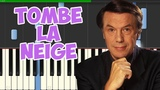 Tombe La Neige-Salvatore Adamo (Piano Tutorial Synthesia)