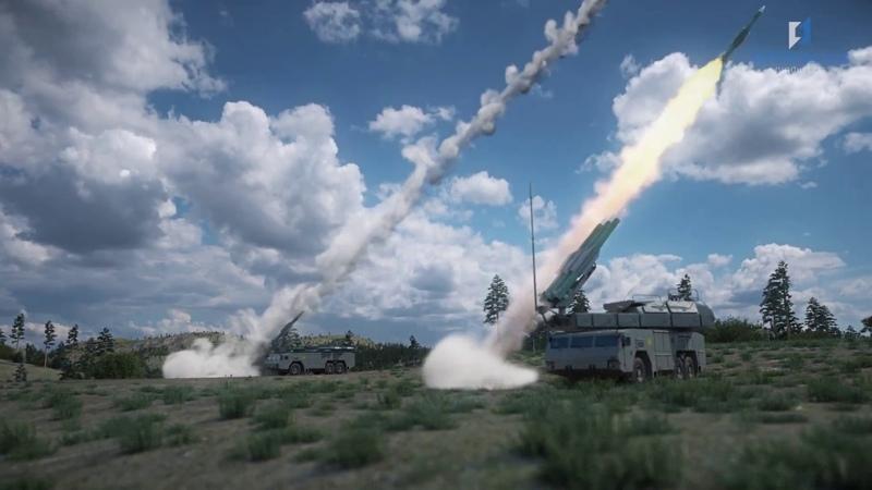 Работа ЗРК Бук-М2 по BGM-109 Tomahawk и FA-18 Hornet, ЗРС С-300ВМ Антей-2500 по баллистике