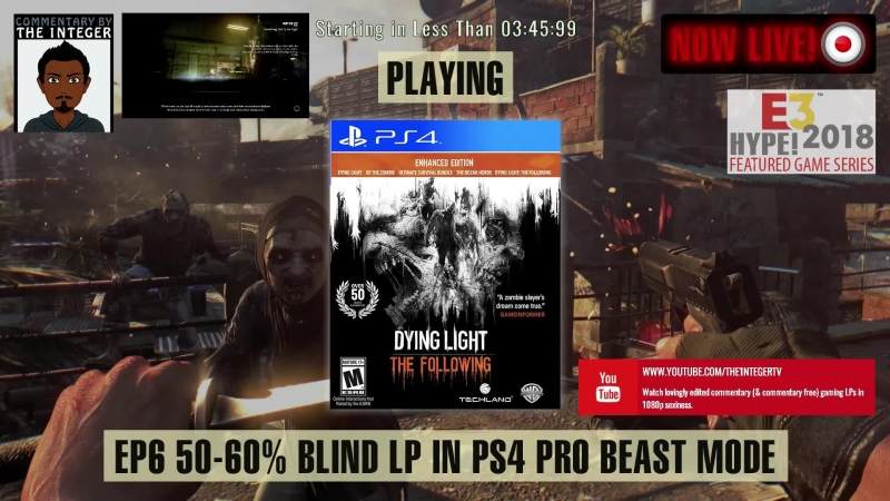 Dying to Watch? SOLO Dying Light (Main 60-50% Blind) - Ep 6 [Tips on request only thanks!] [Post E3 2018 Dying Light 2 reveal hy
