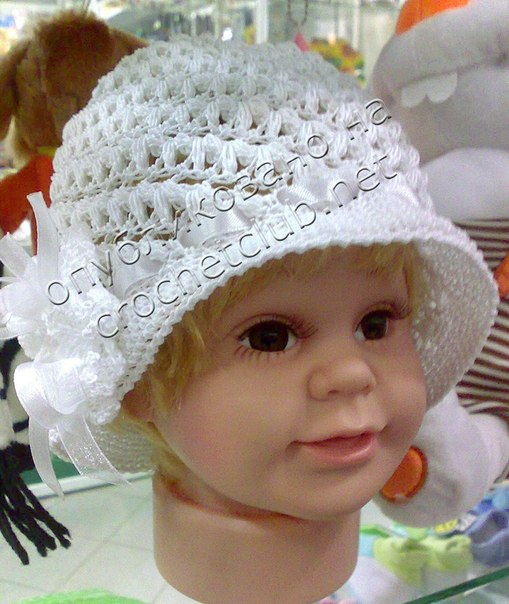 Шляпка для малышки (2 фото) - картинка