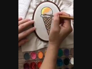 художник творит