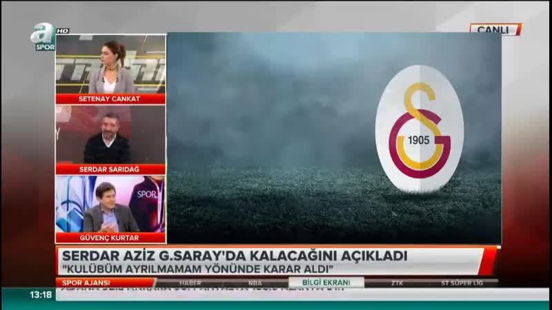 Galatasaray Gündemi - Spor Ajansı 26 Ocak - Serdar Sarıdağ, Güvenç Kurtar