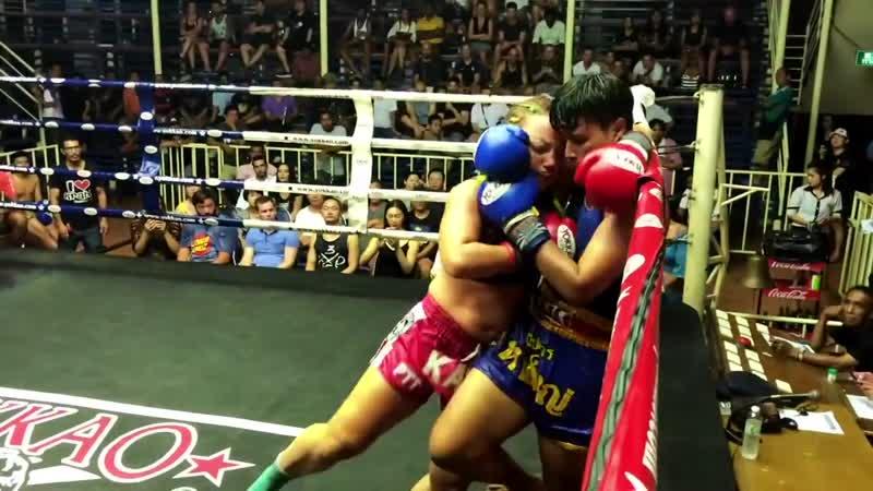 Non stop Mui Thai female fight