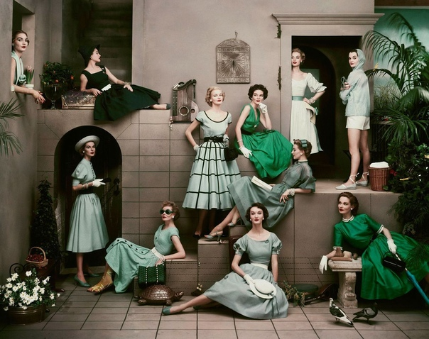 Фото моделей для журнала Glamour (1952 год)