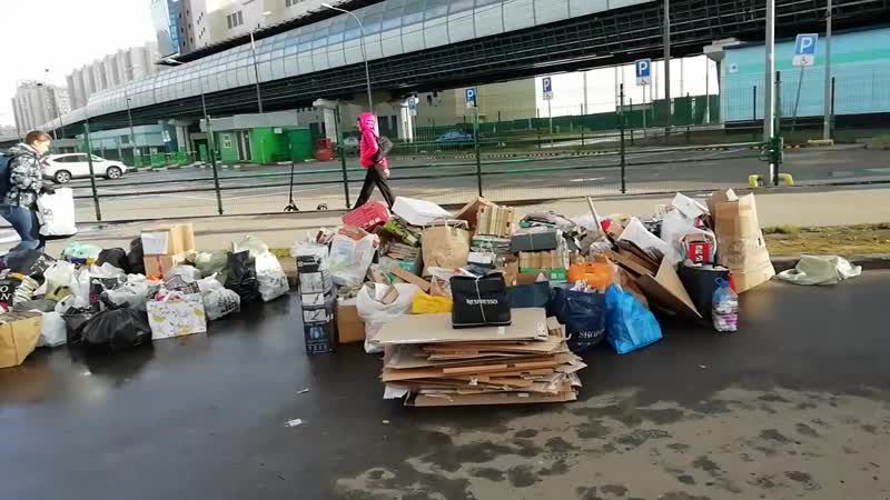 Акция раздельного сбора отходов. Южное Бутово, 28.10.2018