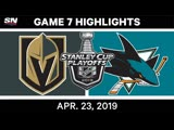 NHL Highlights   Golden Knights vs. Sharks, Game 7 - April 23, 2019
