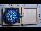 How to paint Mandala for BEGINNERS!! #5 (medium hard)Snowflake Ornament#Blue&ampWhite