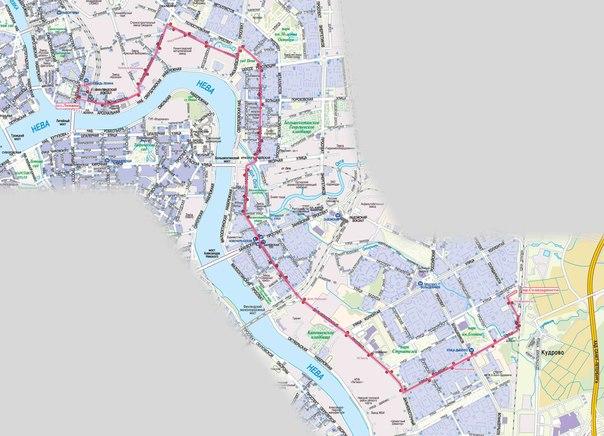 Схема маршрута 23.  УВЕЛИЧИТЬ.