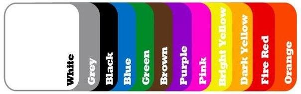 Как пишется цвет по английски