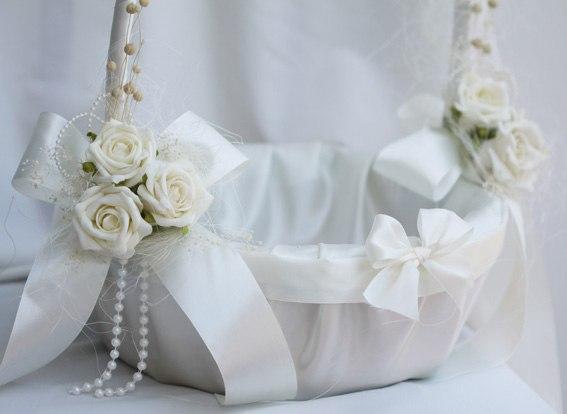 Украсить свадебную корзину мастер класс 60