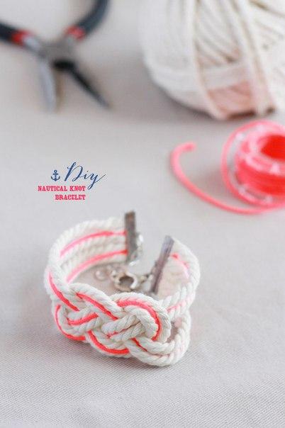 Как сделать несложный стильный браслет… (3 фото) - картинка