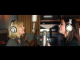 Delta in the studio with Olivia Newton - ''Love is a Gift'' song recording (28.04.2018)