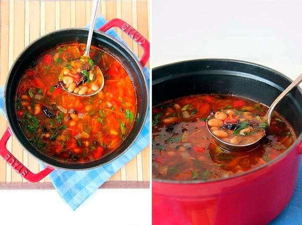 Фасолевый суп с черносливом