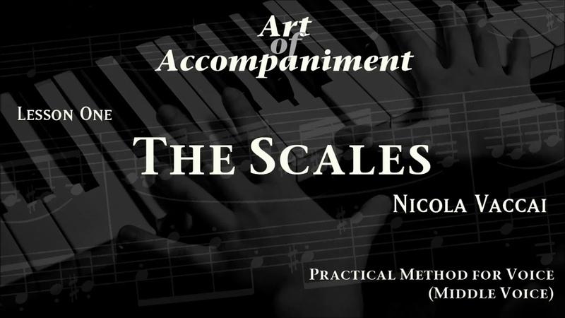 Vaccai - Practical Method (Medium Voice) | THE SCALES | Piano Accompaniment