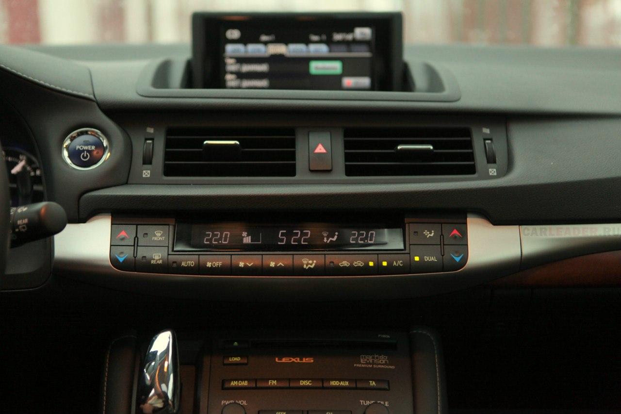 Климат и магнитола Lexus CT