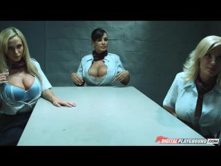 Diamond Foxxx & Lisa Ann & Nikki Benz [HD 1080, All Sex, Big Tits, MILF, Lesbian, Uniform, Porn 2014]
