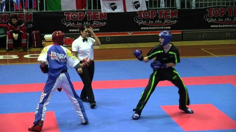 Maxim Fadeev RUS v Robert Hurley IRL WAKO European Championships 2014
