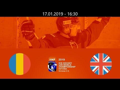 ROU vs GBR - 2019 IIHF WM20IIA - Tallin, Estonia – 17.01.2019