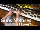 Tutorial: Guns N'Roses - This I Love / Evgeny Alexeev, piano