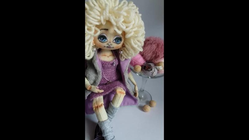 Подготовка к фотосъемке. Кристи. Авторская кукла в технике грунтованного текстиля. alyonaberezina.etov.ua/product/2342982