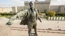 Ленин на Московской площади Ленинграда Советский путешественник