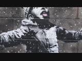 Граффити Бэнкси в Порт-Толботе подверглось нападению вандалов