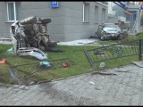 Погоня ДПС 30.06.2013 за пьяным на Toyota Corolla, со смертельным исходам, Новосибирск