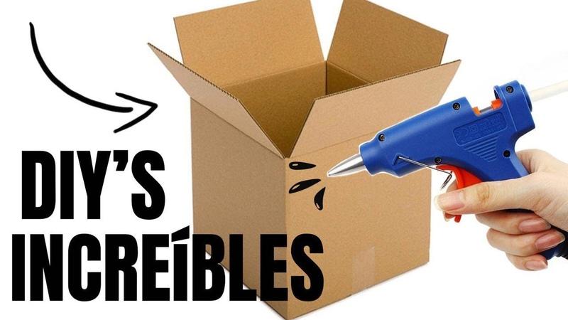3 Ideas Increíbles de Reciclaje con Cajas de Cartón