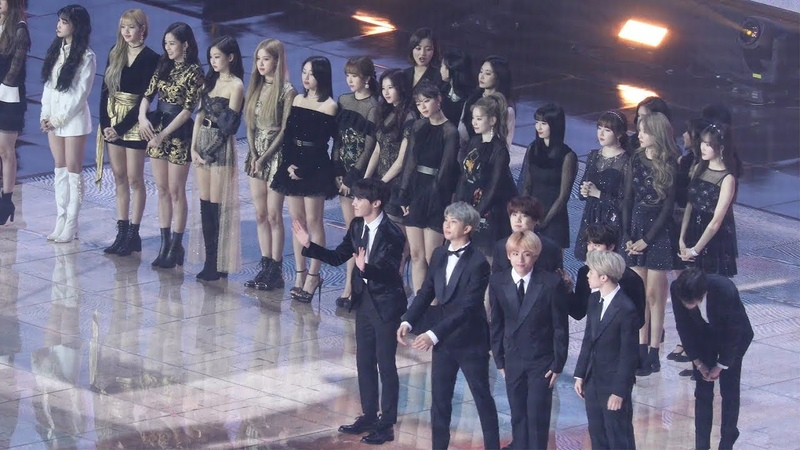 190105 BLACKPINK TWICE BTS 입장 Opening 로제 채영 친목 블랙핑크 트와이스 방탄소년단 4K 직캠 by 비몽