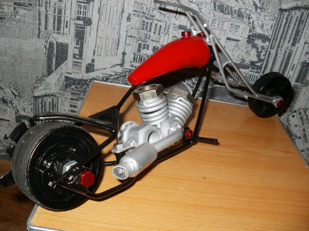 из скутера мотоцикл своими руками