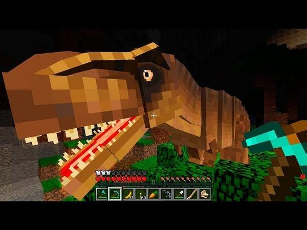 Копал Шахту и Нашел Скрытый мир Динозавров Под землей в майнкрафт