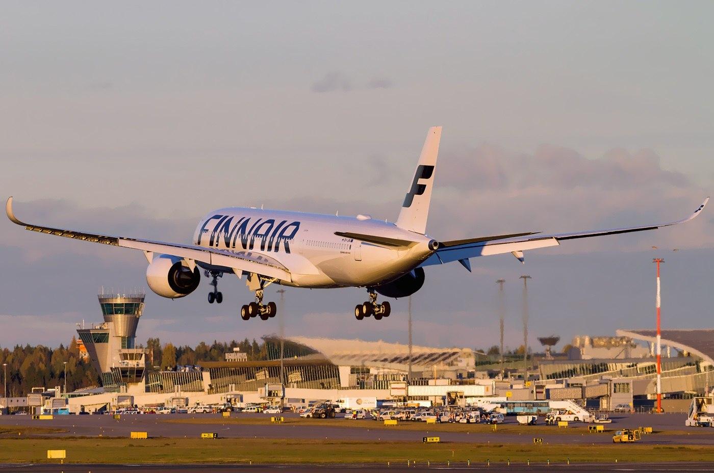 Взлет Airbus A350 XWB финского перевозчика
