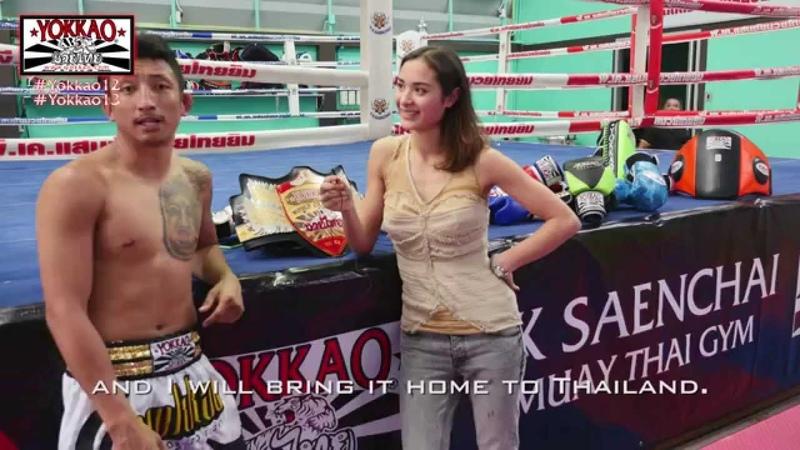 YOKKAO WORLD CHAMPION PAKORN talks with STEFANIA PICELLI about YOKKAO 13!