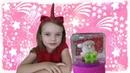 Вика делает новогоднюю поделку DIY стеклянный шар ДЕД МОРОЗ видео для детей