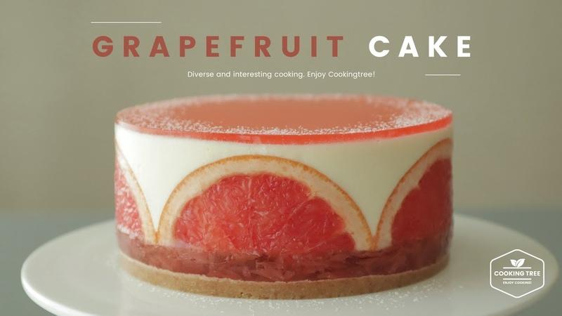 노오븐~✿ 자몽 치즈케이크 만들기 : No-Bake Grapefruit Cheesecake Recipe - Cooking tree 쿠킹트리*Cooking ASMR