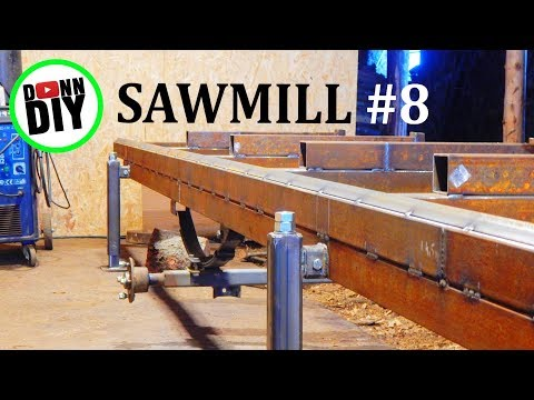 Homemade Sawmill 8 Completing Welding Adding Rails