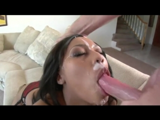 Balls deep throat fucking after cum throat pie compilation part
