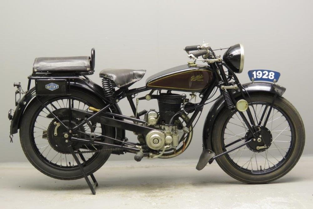 Старинный мотоцикл Gillet Tour du Monde 1928