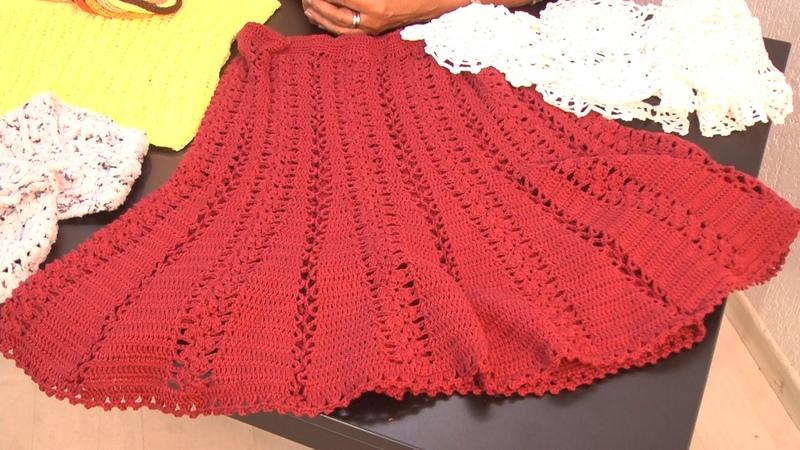 Suely Pontes ensina pontos para uma linda saia em crochê.