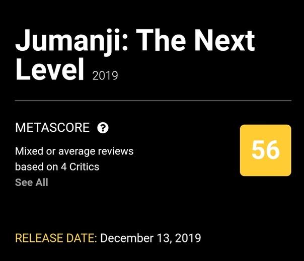 «Джуманджи: Новый уровень» оказались не хуже первой (второй) части